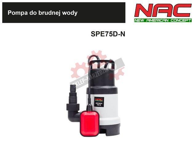 NAC Pompa do brudnej wody SPE75D-N